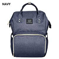 (NAVY)GENUINE LAND Multifunctional Baby Diaper Backpack Changing Bag Nappy Mummy AU(NAVY)