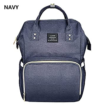 1ae0aef2 Image Unavailable. (Navy) Genuine LAND Multifunctional Baby Diaper Backpack  ...