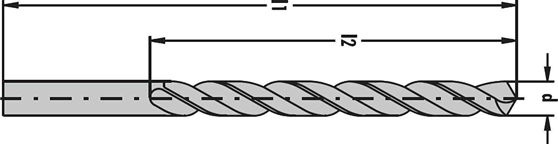 /Ø 12,60mm x Ges.L/änge 151 x Arbeitsl/änge 101mm Toleranz h8 mit Kreuzanschliff HSSG-TiN DIN 338 N rechtsschneidend geschliffene Industriequalit/ät Hi-Tech Spiralbohrer PRESTO-ELITE