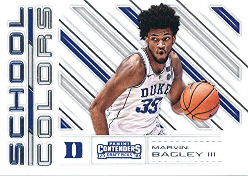 2018-19 Panini Contenders Draft Picks School Colors #3 Marvin Bagley III Duke Blue Devils Basketball Card