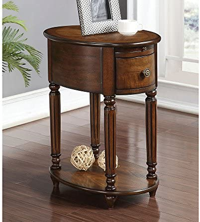 ACME Furniture 80506 Peniel Side Table, Dark Oak
