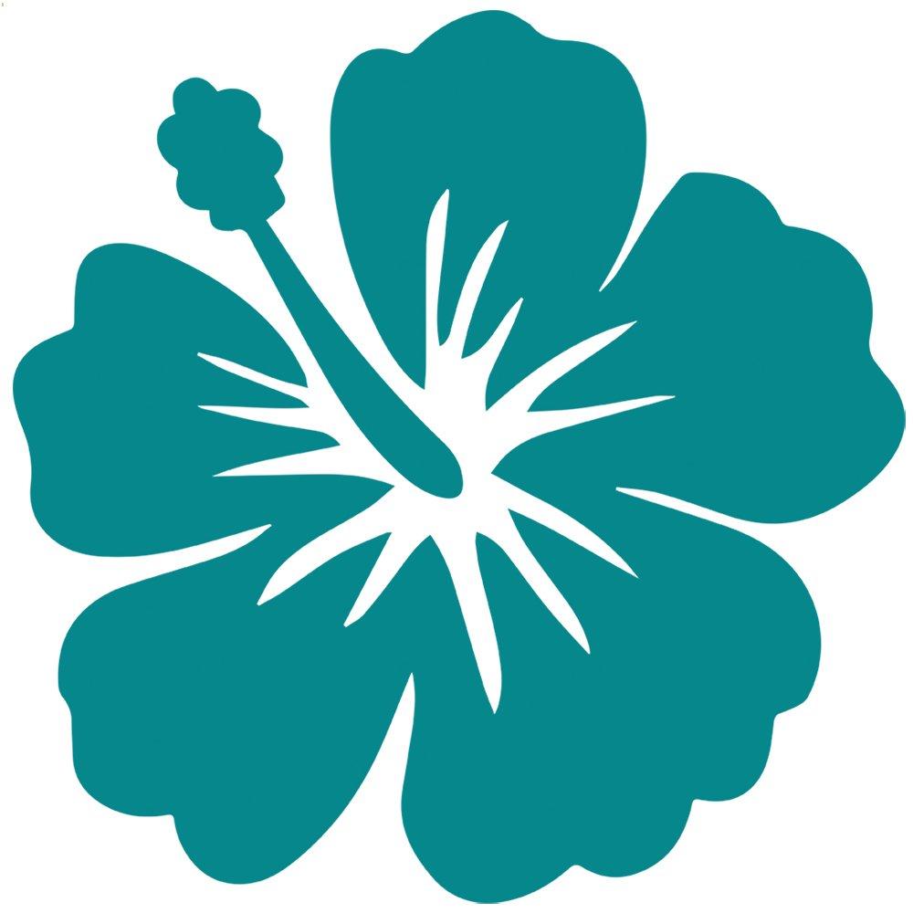 輝い トロピカルハイビスカス柄花デカールステッカー 5 ブルー inch ブルー 5 z-ay-1815-matteturquoise-5 inch 5 inch マットターコイズ(壁用) B011DMI6SQ, 室蘭市:8c083d47 --- a0267596.xsph.ru
