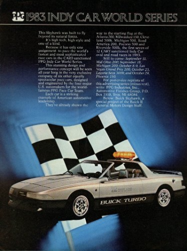 (PPG 1983 Indy Car world Series Buick Skyhawk Pace Car ad C&D)
