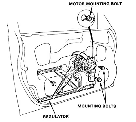 Amazon Com Power Window Regulator And Motor Assembly For 1996 2000