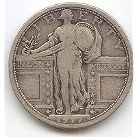 1917 Standing Liberty Type 1 Quarter Very Good