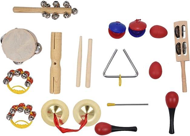 HshDUti - Set de 10 instrumentos musicales para niños ...