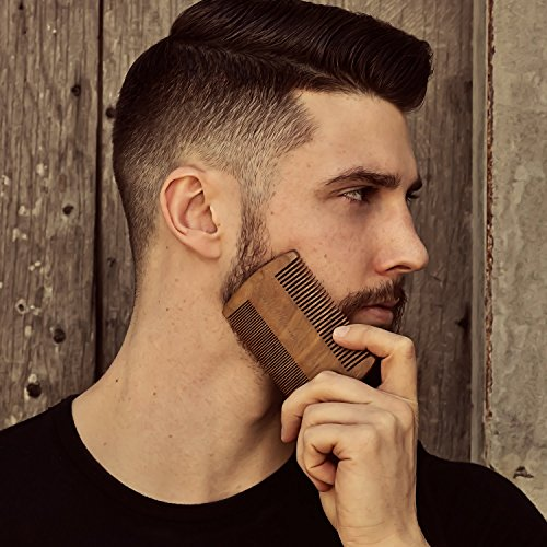 Beard Comb - Natural Sandalwood for Hair with Scented Fragrance Smell with Anti-Static - Handmade Fine Tooth Brush Best for Beard Moustache Packaged in Giftbox by Rocky Mountain Barber Company (Image #7)