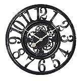 TOYM- 22 Inch Large Industrial Retro Gear Creative Wall Clock Living Room Bedroom Quartz Clock