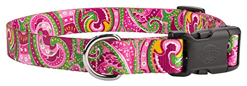 Country Brook Design10 - Pink Paisley Deluxe Dog Collars - Extra Large