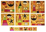 NOVICA Wood placemats and coasters, Set For 6, Playtime World