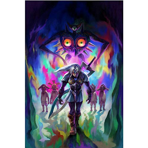 - Diamond Painting Cartoon The Legend of Zelda Breath of The Wild Wall Art Picture Art Print Painting for Living Room Wall Decor 30cm X 40cm