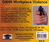 OSHA Workplace Violence : Introductory but Comprehensive OSHA (Occupational Safety and Health) Training for the Managers and Employees in a Worker Safety Program, Covering Workplace Security, Farb, Daniel and Gordon, Bruce, 1932634207