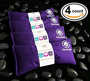 Namaste Yoga Lavender Eye Pillows - 4 Pieces - Purple Cotton By Happy Wraps®