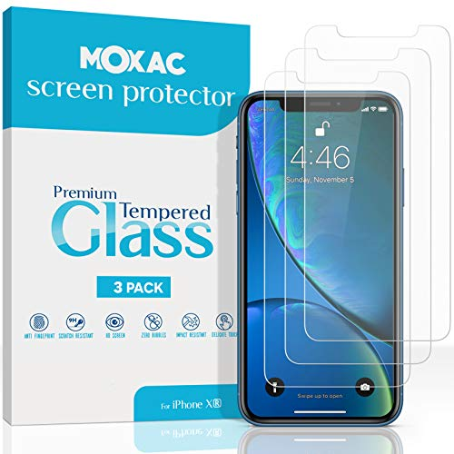 Moxac [3 Pack] iPhone XR Screen Protector, 6.1 0.3mm Case Friendly Tempered Glass Screen Protector iPhone XR 3-Pack