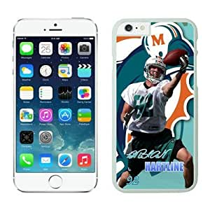 NFL iPhone 6 Plus 5.5 Inches Case Miami Dolphins Brian Hartline White iPhone 6 Plus Cell Phone Case ONXTWKHC2330