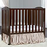 Dream On Me 2 in 1 Portable Folding Stationary Side Crib, Espresso