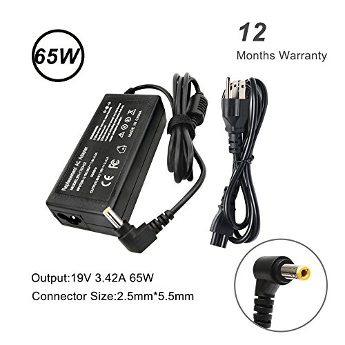 19V 3.42A 65W 5.5-2.5mm AC Power Adapter Charger For Toshiba Satellite L2 L10 L30 L45 A100 A135 A200 Lenovo IdeaPad Y300 Y410 Y510 Gateway Solo 3000 MX MT Series Acer 200 310 512T 600 2350 2400