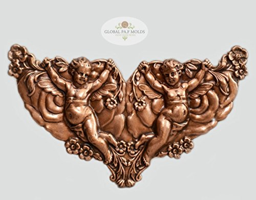 Cherub - Double mold Sugarcraft Molds Polymer Clay Cake Border Mold Soap Molds Resin Candy Chocolate Cake Decorating Tools