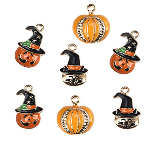 Halloween Decorations Charms Pendants for Crafting DIY Necklace Bracelet Mixed Wholesale 15Pcs -