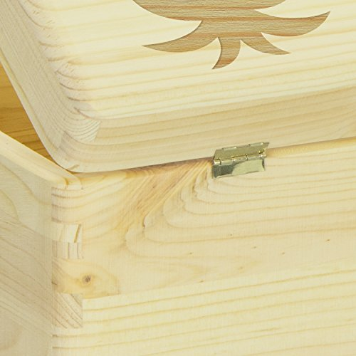 LAUBLUST Engraved Wooden Memory Box - Size L, 12x8x6in - ❤️ Personalized ❤️ Baby Keepsake Box - Jungle Design | Natural Wood - Made in Germany by LAUBLUST (Image #4)