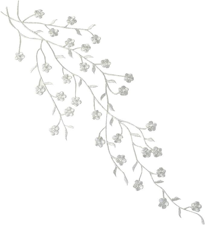 BOZEVON Parches Bordado Parches de Flor Parche Termoadhesivo de Apliques Decorativo para Vestido Vaqueros