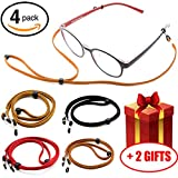 Premium Glasses Strap Chain for Men Women Kids [Pack of 4], Adjustable Eyeglass Holder String for Sports Reading, Never Lose Eyeglasses Again
