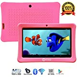 "Contixo Kids Tablet K1 | 7"" Display Android 6.0 Bluetooth WiFi Camera Parental Control for Children Infant Toddlers w/Free Tablet Case (Pink)"