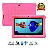 Contixo Kids Tablet K1 | 7' Display Android 6.0 Bluetooth WiFi Camera Parental Control for Children Infant Toddlers Includes Tablet Case (Pink)