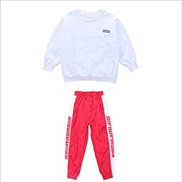 0302bed096e11 Moyuqi™ Kids Boys Girls Loose Ballroom Jazz Hip Hop Dance Competition  Costume Long Shirt And