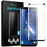 Galaxy S8+ Plus Screen Protector, i-Blason [Case Friendly] Premium Edge-to-Edge Full Coverage Tempered Glass Screen Protector for Samsung Galaxy S8+ Plus (Black)