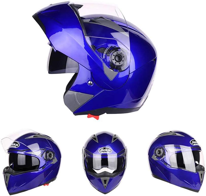 Rouge approuv/é Casque de Moto Complet avec /écran Pare-Soleil et Pare-Soleil XL Folconauto Casque de Scooter de Moto
