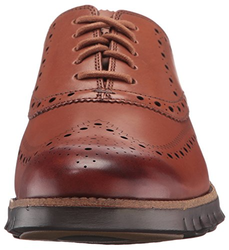 Cole Haan Men's Zerogrand Wing Ox Leather Shoe, British Tan Open Holes/Java, 10 Medium US