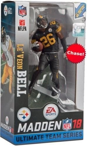 McFarlane Madden NFL 18 Ultimate Team Series 2 Le'Veon Bell Pittsburgh Steelers Color Rush Chase Variant