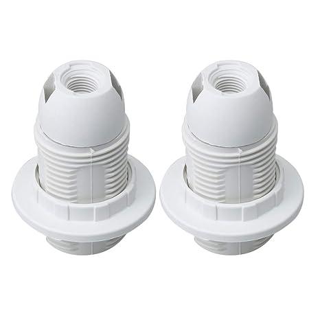 BQLZR - Juego de 2 soportes para lámpara de techo (rosca E14 ...