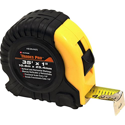 Tradespro 836465 35 Feet by 1-Inch Measuring Tape (Fractional Tape Measure)