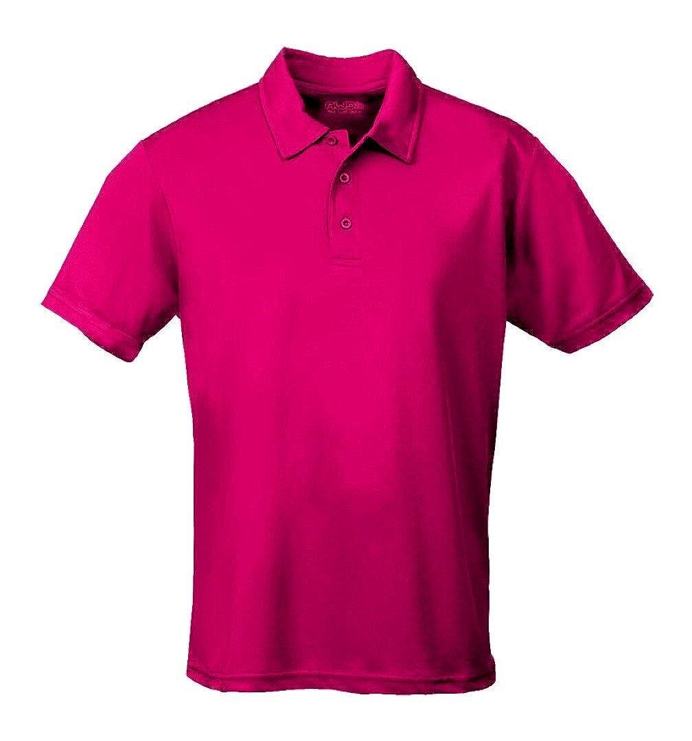 AWDis Kids Short Sleeve Cool Polo Shirt Hot Pink 9-11