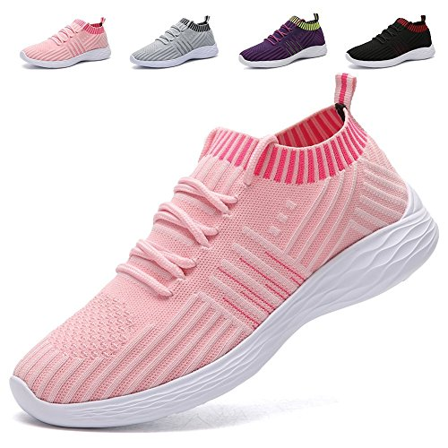 AoSiFu Women's Lightweight Walking Shoes Breathable Mesh Casual Sport Shoes Fashion Sneakers...