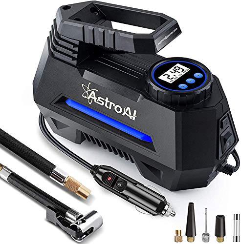 AstroAI Air Compressor Tire Inflator Portable Air Pump for Car Tires 12V DC Auto Tire Pump with Digital Pressure Gauge…