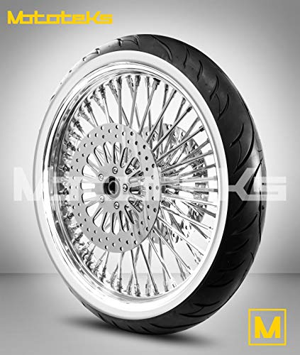 21X3.5 52 Fat Spoke Tubeless Wheel for Harley Touring Bagger fits 2000-2007 (1