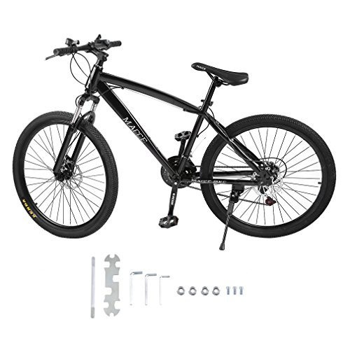 Homgrace Road Bike 26 Inch Carbon Steel Single Speed V Brake Outdoor Cycling for Youth, Women, Men
