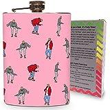 Drake Flask 8oz Stainless Steel Hip Flasks for Drinking Spirits Whiskey Liquor Vodka Dance Dancing Pink Hotline Bling video