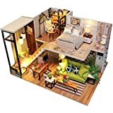UCTOP Dollhouse Kit DIY Miniature wooden Handmade House Furnished with Accessories with Music Chip & Assemble Tool Northern Europe