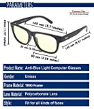 DUCO Blue Light Blocking Glasses Gamer Glasses and Computer Eyewear Anti-Glare Protection Anti-Fatigue Anti UV Glasses for Smartphone Screens, Computer Or Tv 2142