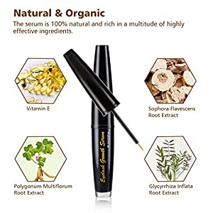 Eyelash Growth Serum-Eyelash Eyebrow Enhancer Lash Growth Serum Natural Stimulate Longer and Thicker Eyelash,Fuller and Healthier Eyebrow Growth