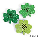12 Pc Shamrock Bowl Fillers Table Scatter Party Favors St Patricks Day Irish Saying Tabletop Home Accent Decoration