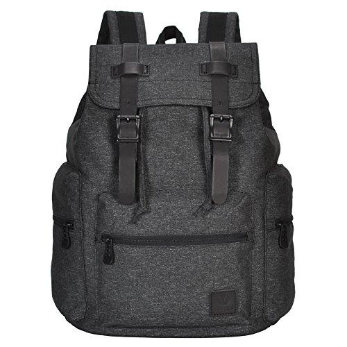 Hynes Eagle Cool Polyester Travel Backpack Lightweight Daypack 21L Dark Grey - Pen Vintage Eagle