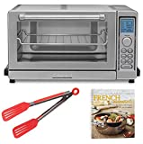 Cuisinart TOB-135 Deluxe Convection Toaster Oven Broiler, Refurbished Bundle + Free Cookbook and Tongs (Certified Refurbished)