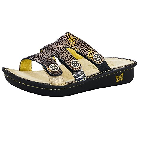 Alegria Womens Venice Slide Sandal Bronze Mosaic Size 38 EU (8-8.5 M US Women)