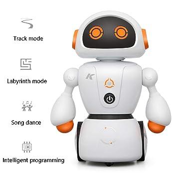 Control Remoto Juguete Robot para Niños, Función Múltiple con El Canto Bailando Camino Laberinto Negro Línea Pista Divertido Juguete para Niños Y Niñas ...