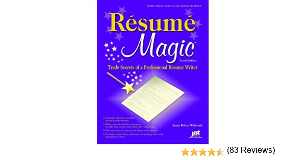 amazoncom resume magic 4th ed trade secrets of a professional resume writer resume magic trade secrets - Professional Resume Writers Reviews